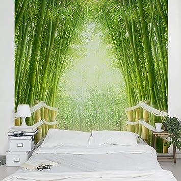 Apalis Vliestapete Bamboo Way Fototapete Bambus Quadrat | Vlies Tapete  Wandtapete Wandbild Foto 3D Fototapete für Schlafzimmer Wohnzimmer Küche |  ...