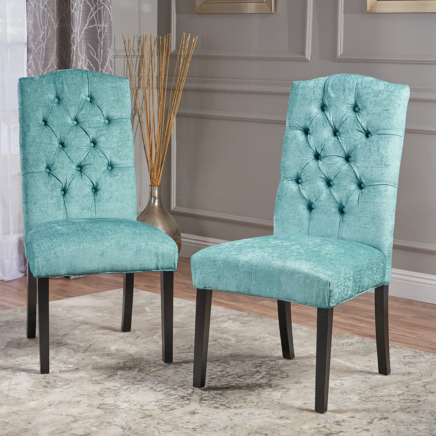Christopher Knight Home 295077 Crown Top Dining Chair, Light Teal
