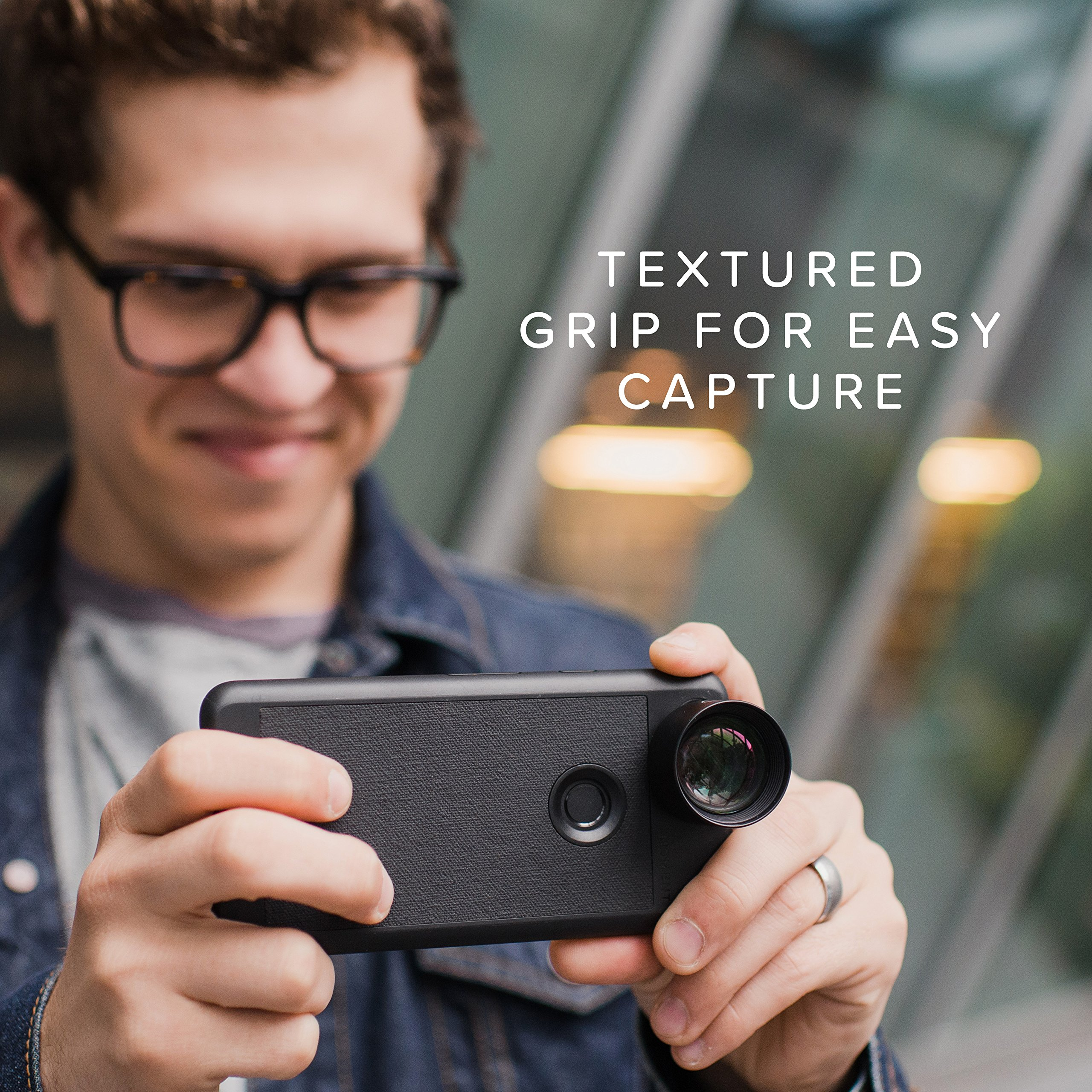 Pixel 2 Case with Telephoto Lens Kit || Moment Black Canvas Photo Case plus Tele Lens || Best google zoom attachment lens with thin protective case. by Moment (Image #4)