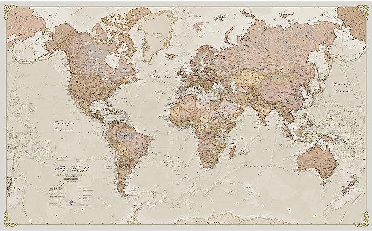 Carte geante du monde