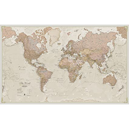 Amazon.com: Maps International Giant World Map - Antique World Map ...