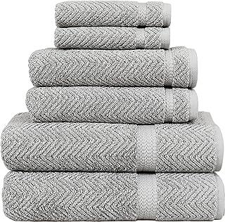 Linum Home Textiles Herringbone 100% Turkish Cotton 6 Piece Towel Set