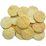 18 Pack Natural Loofah Sponge Exfoliating Face Pads - Facial Body Scrubbers Pad - When Bath Shower and Spa - Loofa Sponges Br