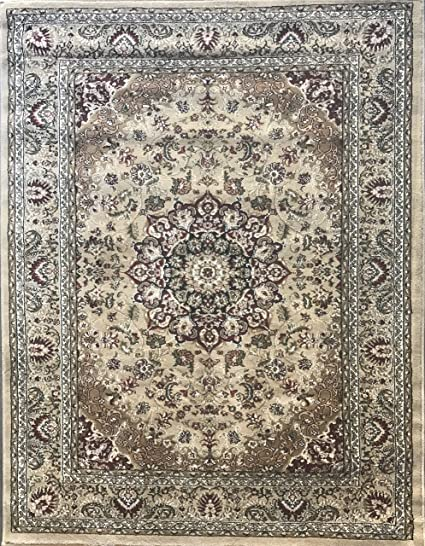 Persian Traditional Oriental Area Rug Beige Ivory 500 000 Point Design 401 4 Feet X 5 Feet 3 Inch