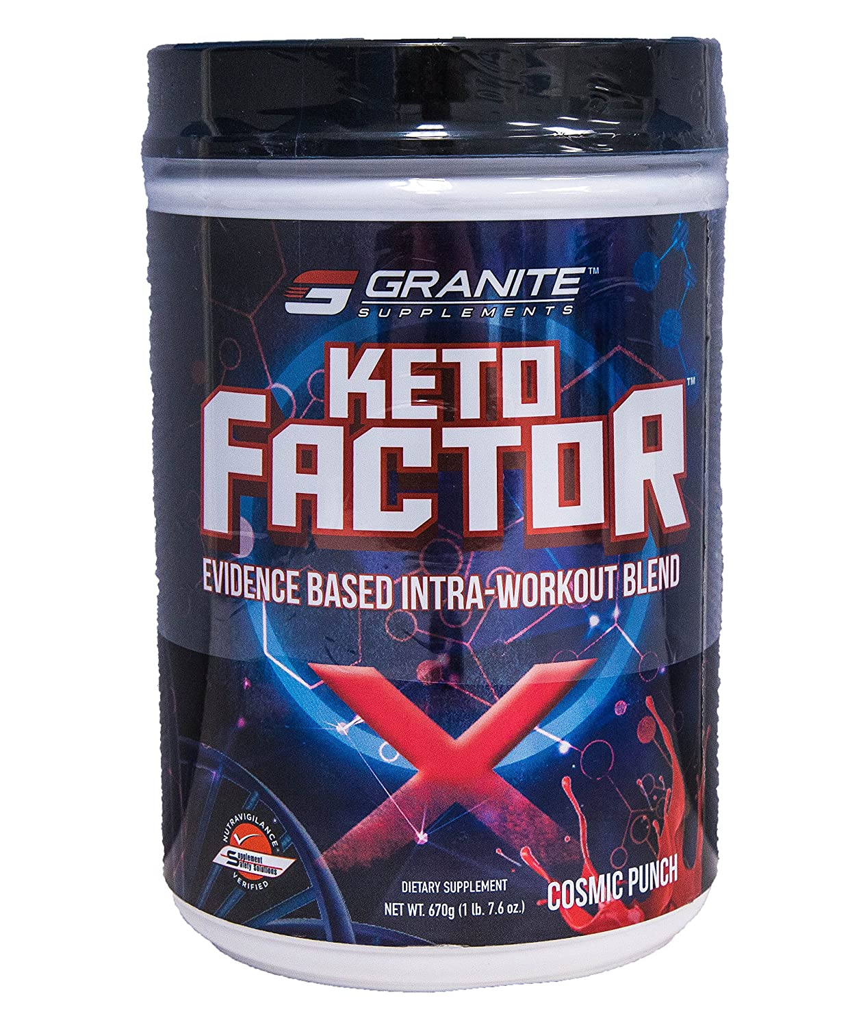 Granite Supplements Keto Factor X Intra-Workout Cosmic Punch 670g