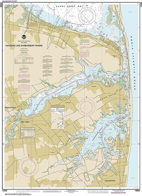 Amazon.com : NOAA Chart 12325 Navesink And Shrewsbury Rivers: 40.97 ...