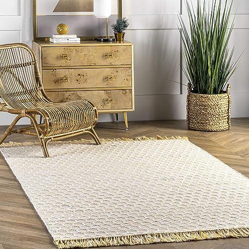 nuLOOM Beehive Tassel Wool Area Rug