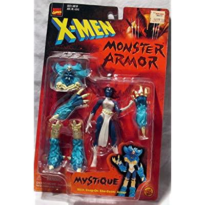 X-Men Monster Armor: Mystique Poseable Action Figure with Snap-On She-Beast Armor: Toys & Games