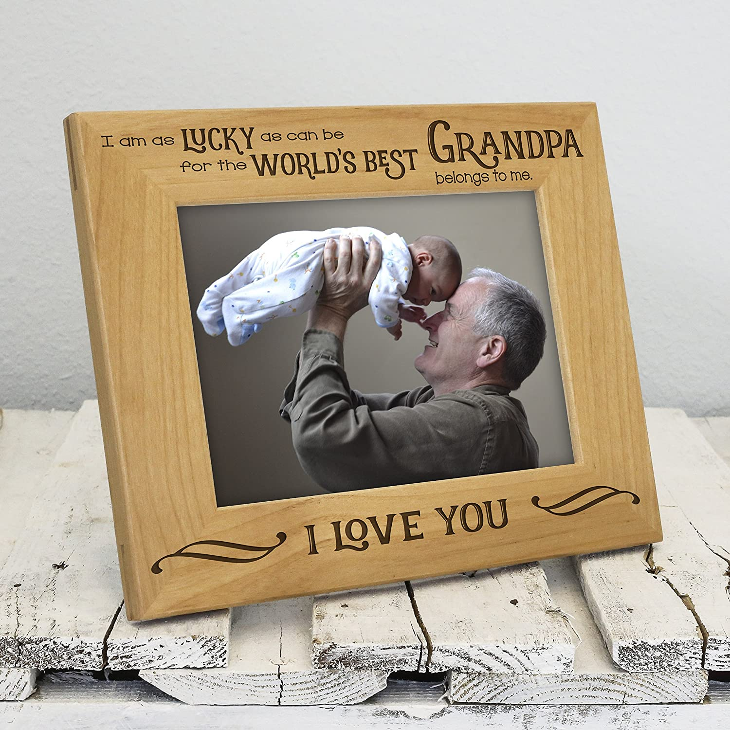 Amazon.com - Worlds Best Grandpa Picture Frame - Fathers Day Gifts ...