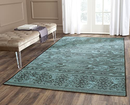 Safavieh Palazzo Collection PAL125-56C4 Black and Turquoise Area Rug 5 x 8