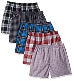 Hanes Men`s Tagless Tartan Boxers with Comfort Flex Waistband, 3XL, Assorted
