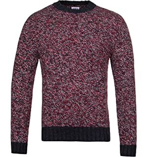 Mélange Stripe Navy Bleu Recycled Red Dock Marine Rond Sweater Homme amp; Pull Knit Laine Standard Edwin Col Pour tXn1p1q6w