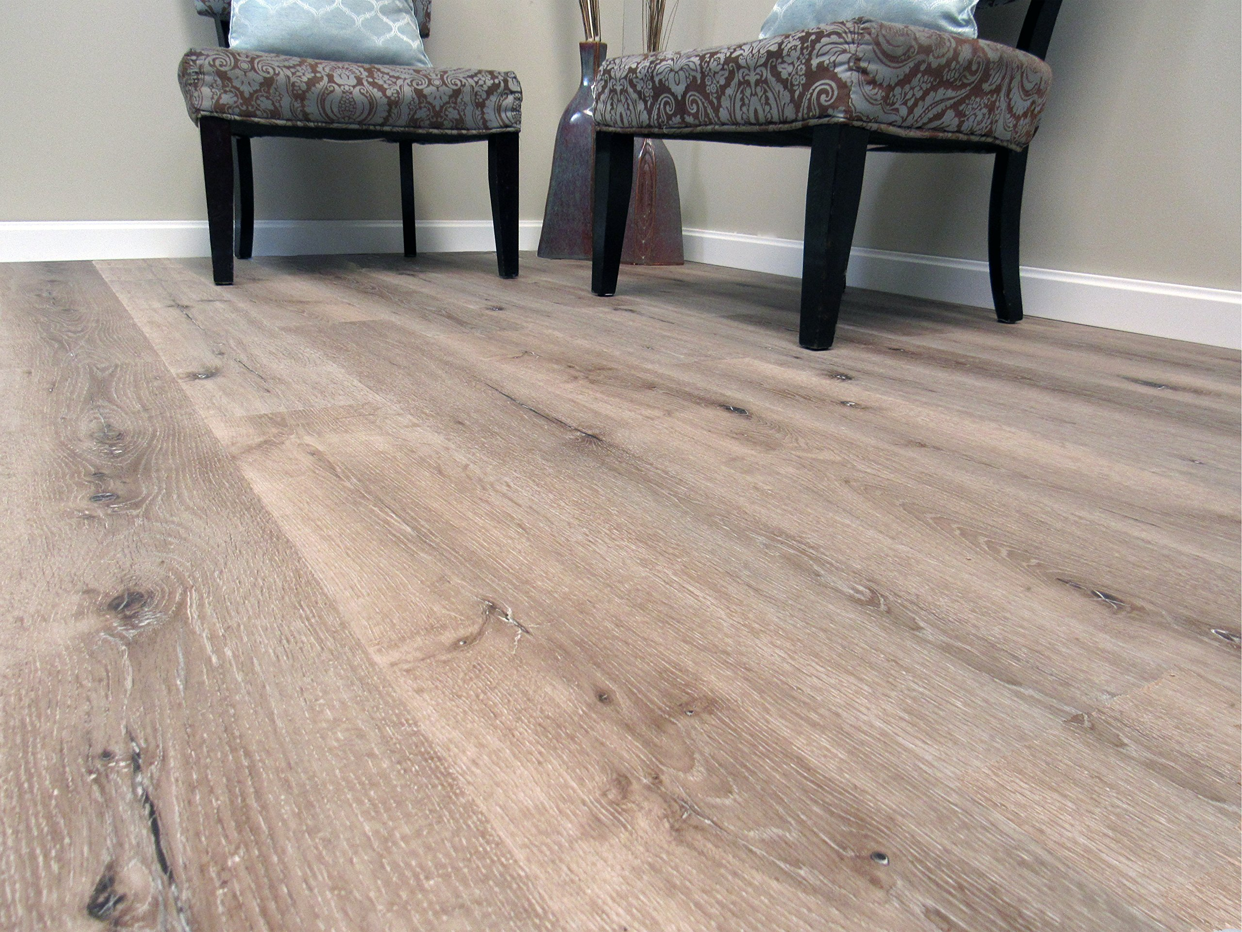 DriCore Waterproof WPC Engineered Flooring 47.64 in x 6.85 in x 6.6mm (40.79 Square Feet, Arctic Oak) by DriCore (Image #2)