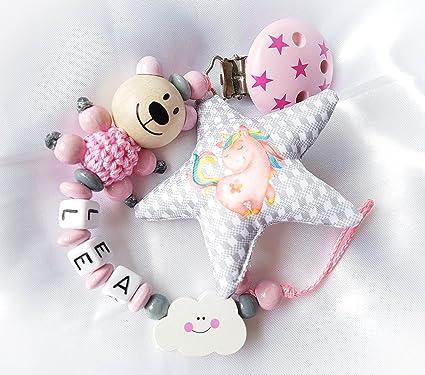 Cadena para chupete con nombres - Plástico Estrella deseos ...