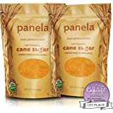 Just Panela Unrefined and Organic Artisanal Cane Sugar - Two, 1lb Bags