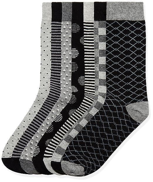 FIND Calcetines Estampados para Hombre, Pack de 7: Amazon.es: Ropa y accesorios