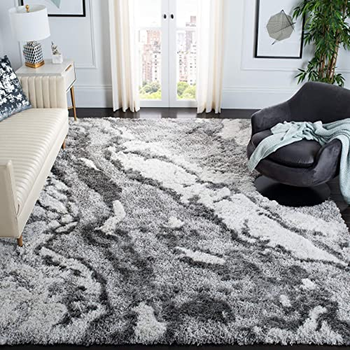 Safavieh Horizon Shag Collection HZN890F Modern Contemporary Abstract Area Rug