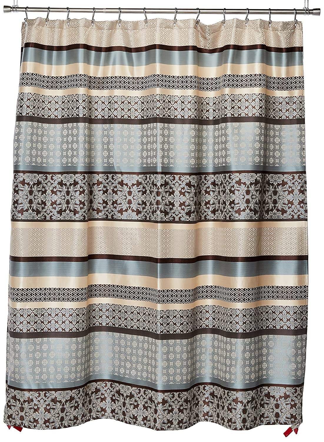 Amazon Madison Park Princeton Jacquard Shower Curtain Blue 72x72 Home Kitchen