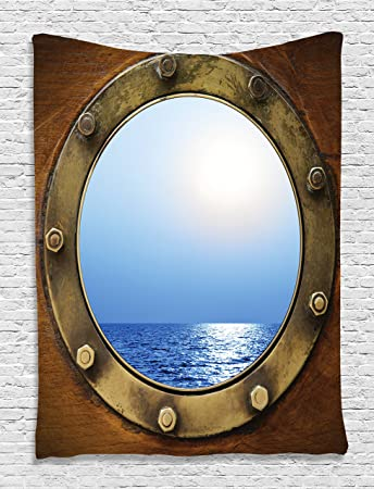 Amazon.com: Ocean Tapestry Nautical Wall Decor Ocean Decor Ship ...