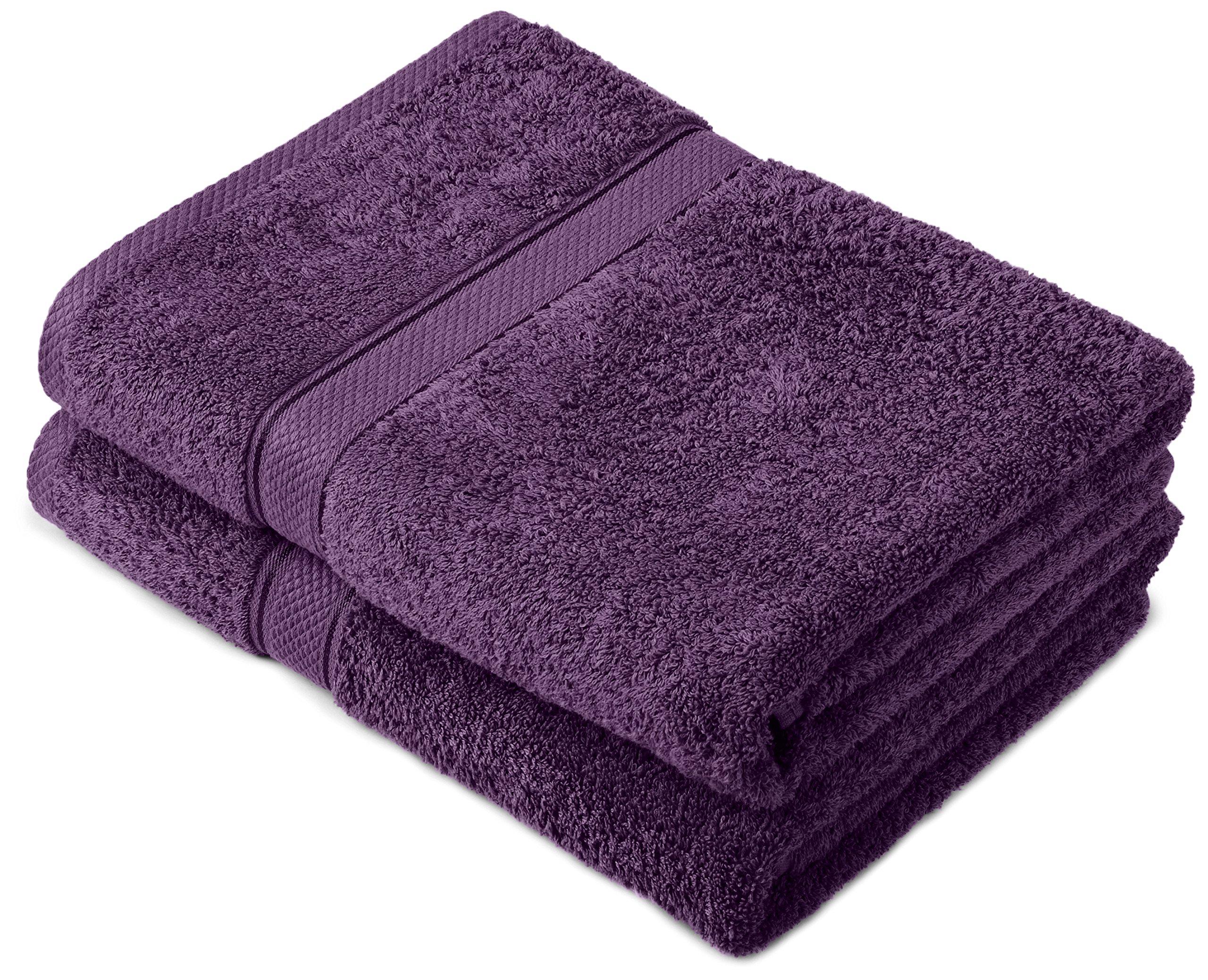 Pinzon by Amazon - Juego de toallas de algodón egipcio (2 toallas de baño), color morado product image
