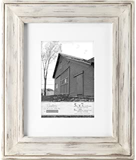 malden international designs whitman white wash matted wood picture frame 5x78x10 white - White Wood Frame