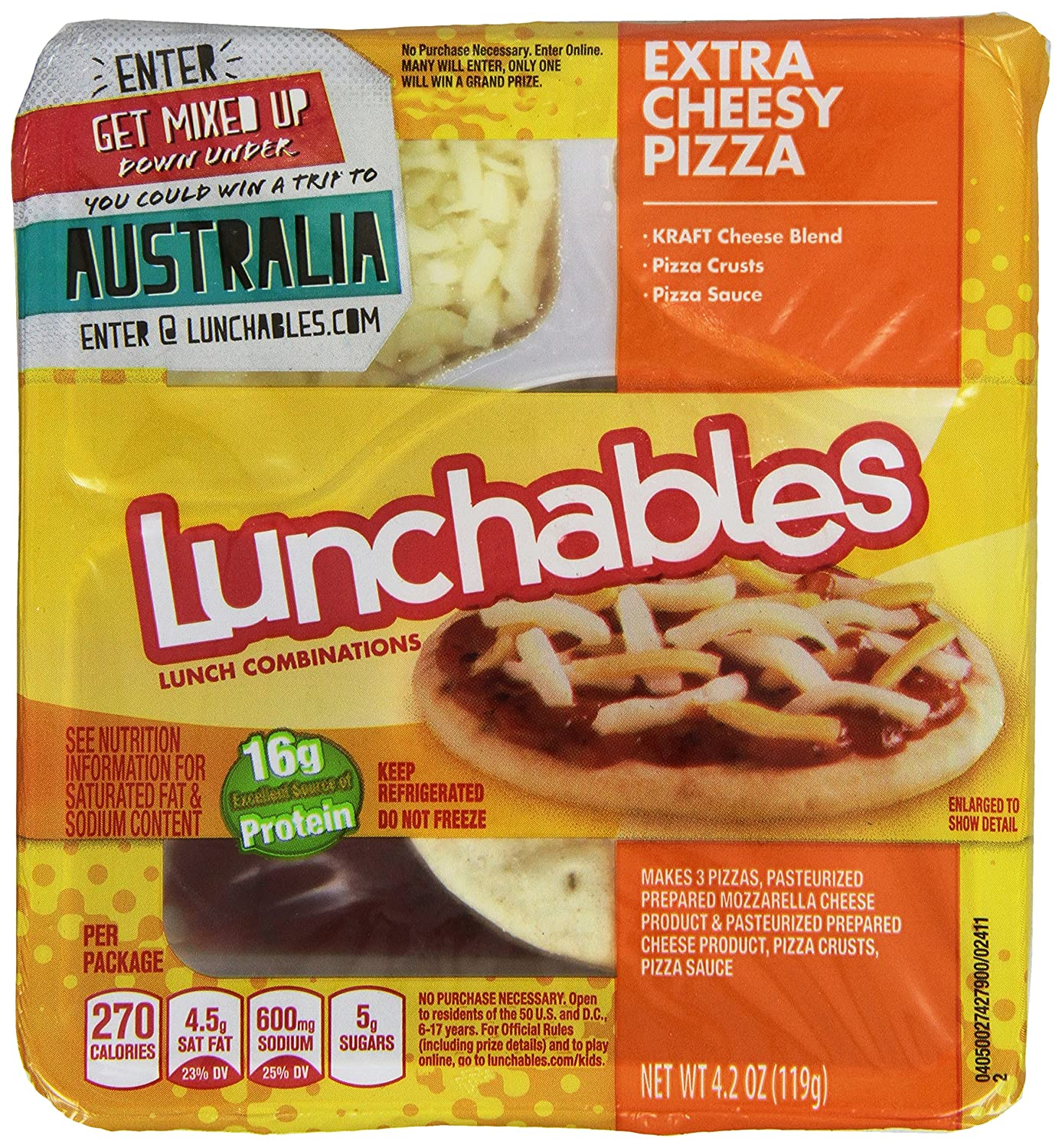 Lunchables Pizza Nutritional Information on oscar mayer lunchables pepperoni pizza