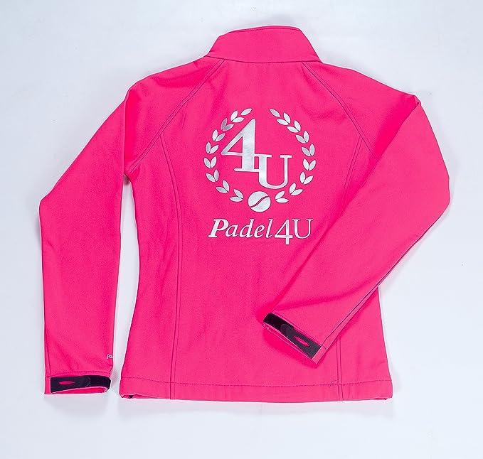 PADEL4U Chaqueta Padel Soft Shell Rosa Fluor (Rosa Fluor, S ...