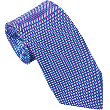 238ae00a45ec Sebastien Grey Men's 7-Fold Silk Tie (Blue Plum Tic-Tac-Toe) at ...