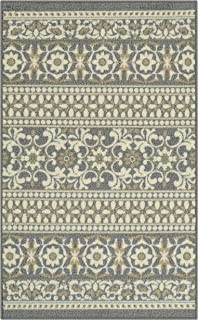 product image for Maples Rugs Zoe Kitchen Rugs Non Skid Accent Area Carpet [Made in USA], 2'6 x 3'10, Grey