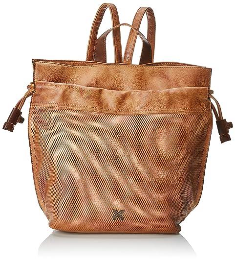 Munich Backpack Walked, Bolso Mochila para Mujer, Marrón (Cuero), 27x9x40 cm (W x H x L): Amazon.es: Zapatos y complementos