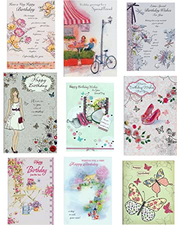 9 classy womens birthday greeting cards collection amazon 9 classy womens birthday greeting cards collection m4hsunfo