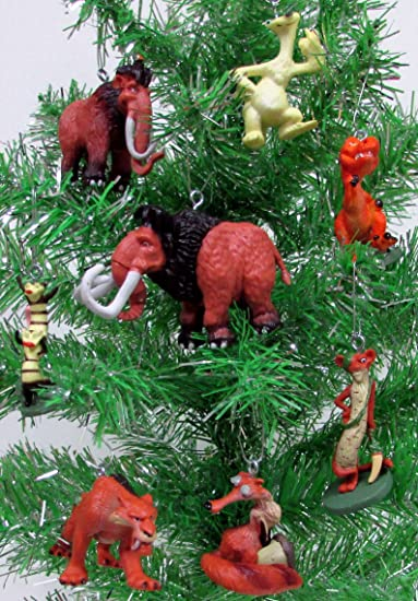 ice age 8 piece holiday christmas tree ornament set featuring manny sid diego and - Christmas Tree Ornaments Sets