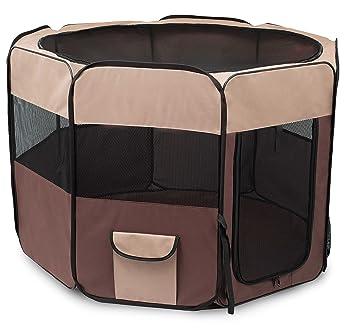 Internetu0027s Best Soft Sided Pet Playpen | Large | Portable Puppy Pet  Enclosure | Dog Or