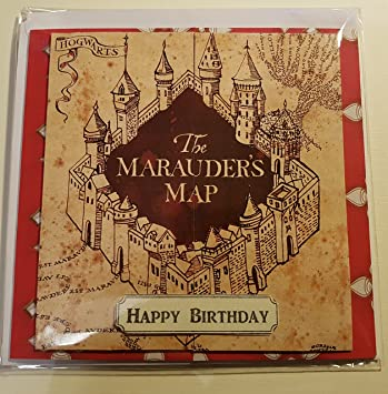 Handmade Harry Potter Inspired Birthday Card