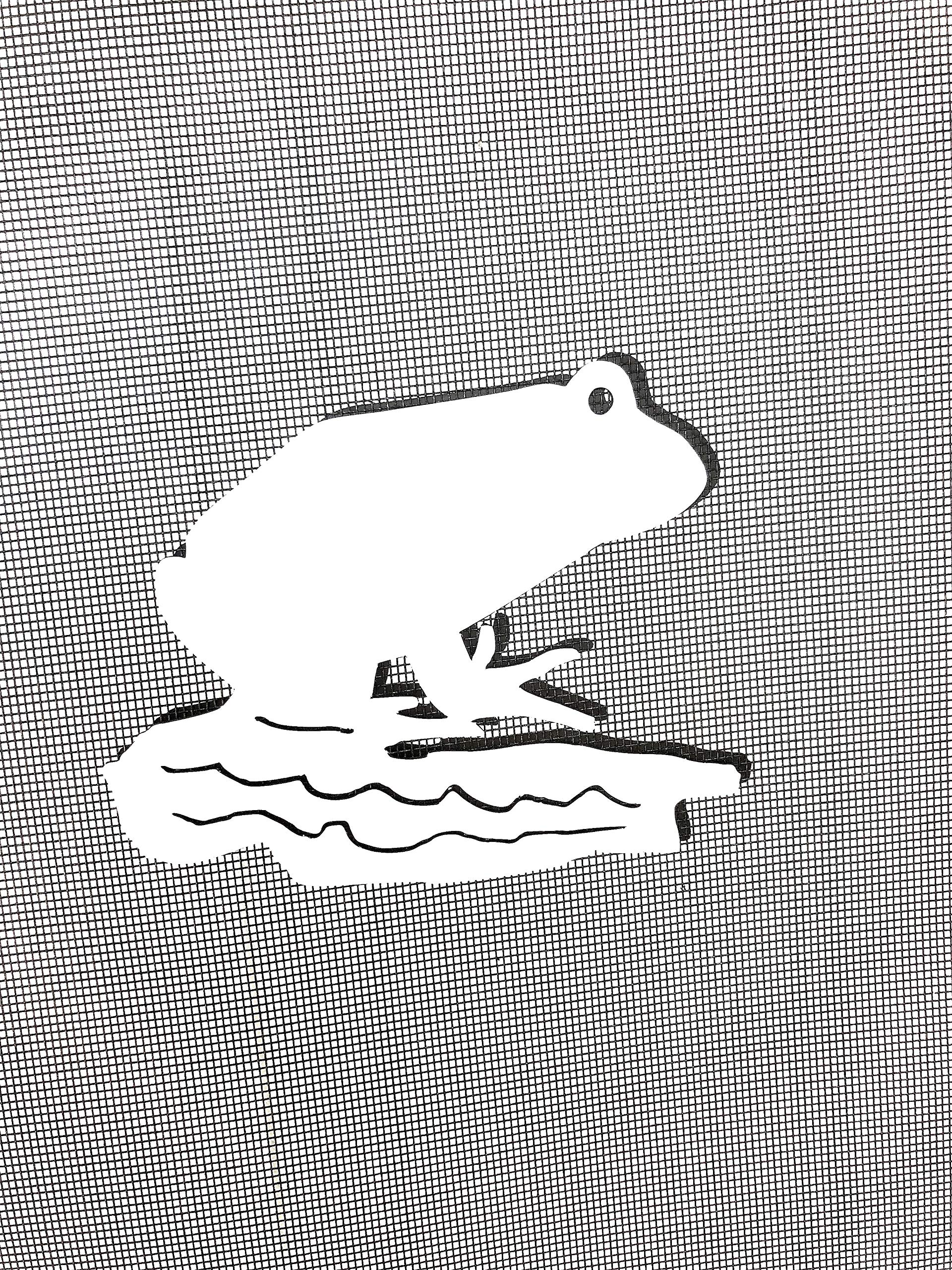 DCentral Frog Screen Magnet: Double-Sided Decor; for Non-Retractable Screens, Multipurpose, Helps to Stop Walking into Screens, Covers Small tears in Screens. Size 5'' x 4'' by DCentral