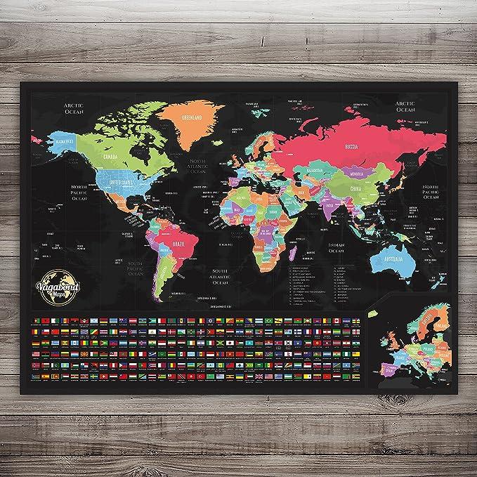 Mapa Para Rascar - de Rascar, Tamaño XXL, personalizado, 84 x 58 ...