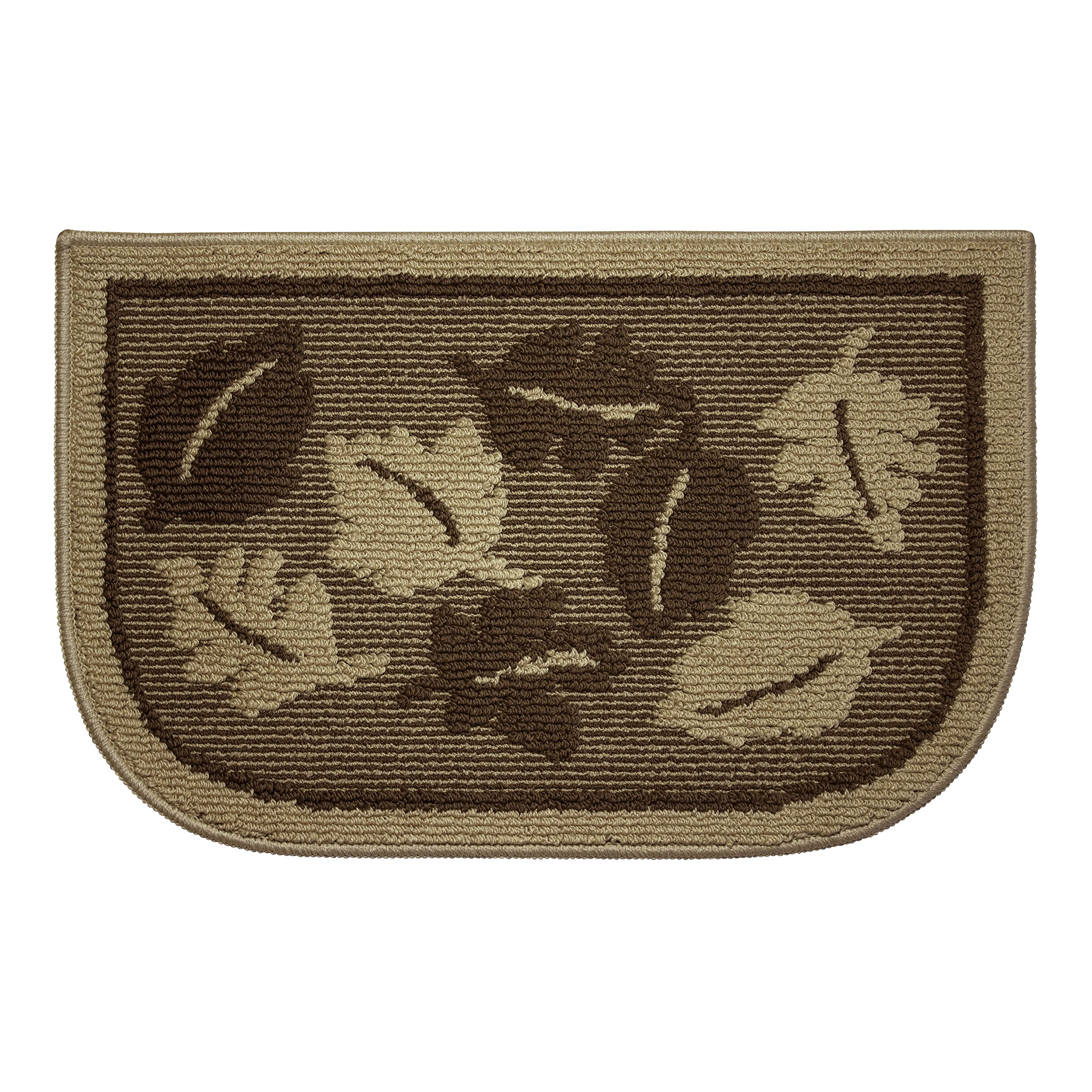 Structures Textured Non-Slip 18 x 28 in. Wedge Kitchen Rug, Livingston Leaves