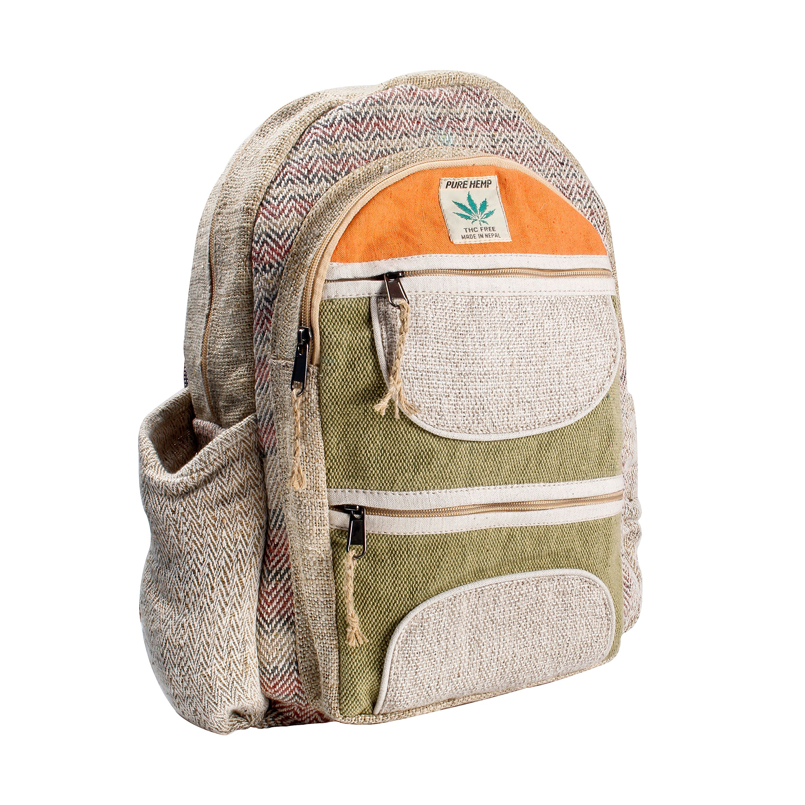 Maha Bodhi All Natural Handmade Multi Pocket Laptop Backpack - Himalayan Hemp by Maha Bodhi (Image #3)