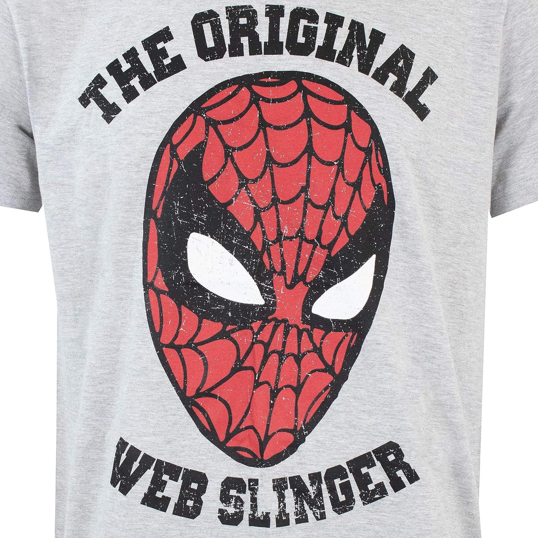 Marvel Pigiama per Uomo Spiderman Uomo Ragno