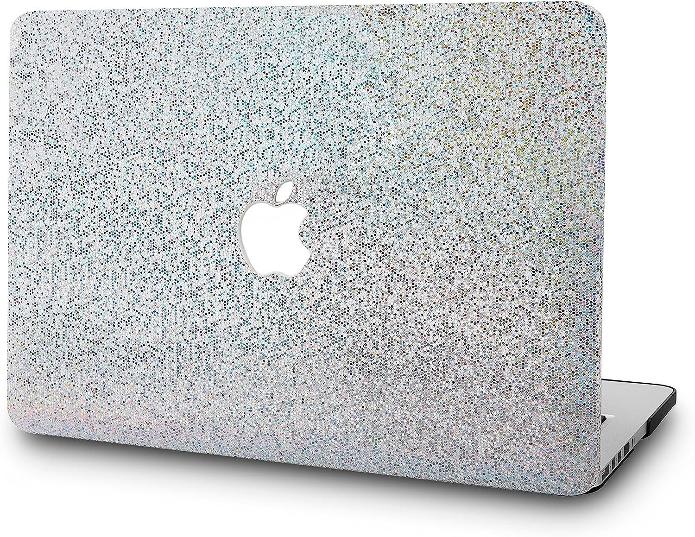 KECC Laptop Case for MacBook Air 13 Inch Plastic Case Hard Shell Cover A1466/A1369 (Silver Gliter)
