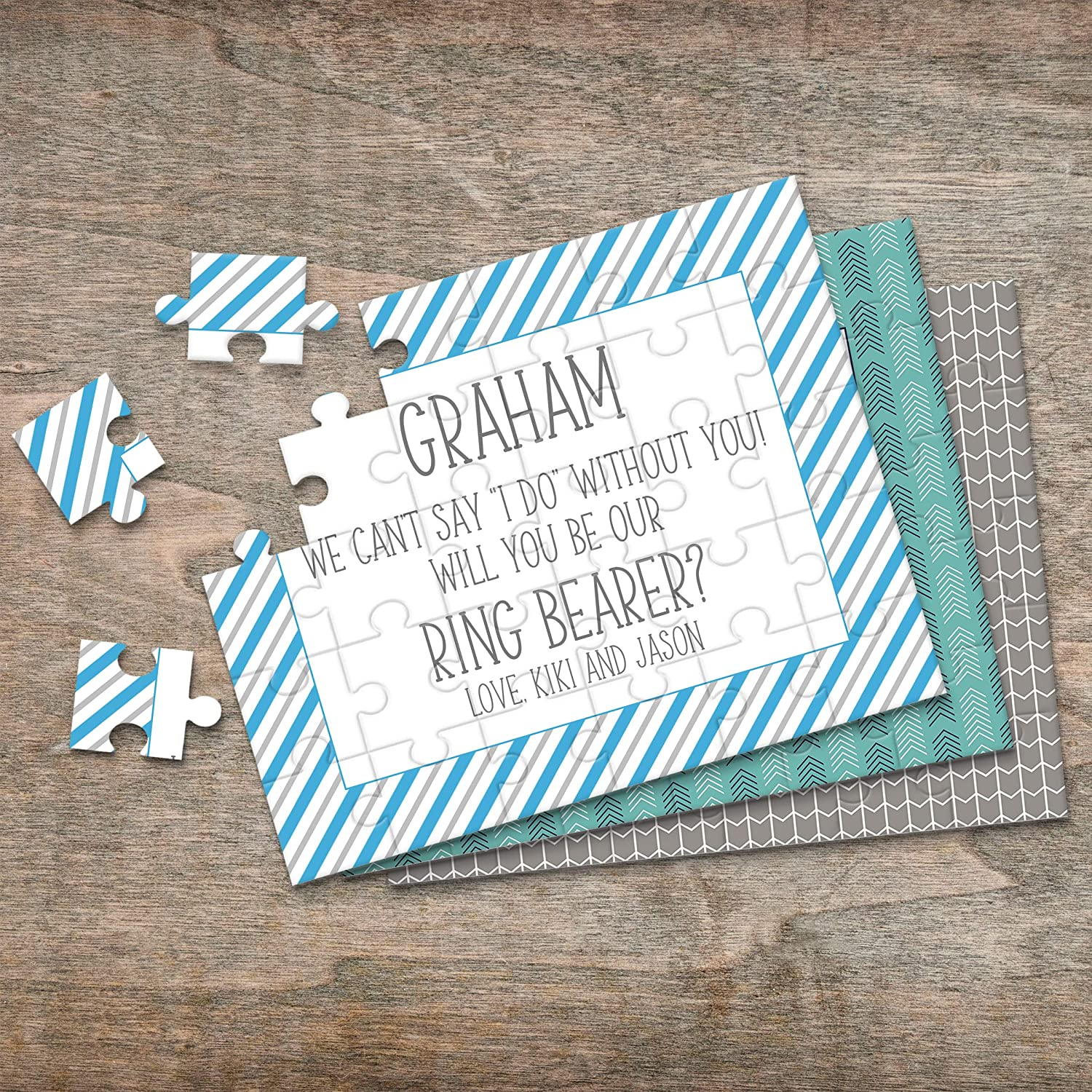 Bridal Party Reveal Puzzle Proposal P2345 Wedding Announcement Asking Ring Bearer Personalized Ring Bearer Puzzle P2331