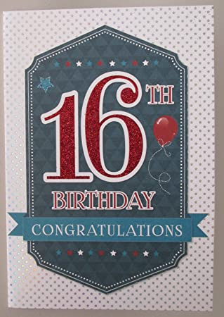 Boys 16 Birthday Card