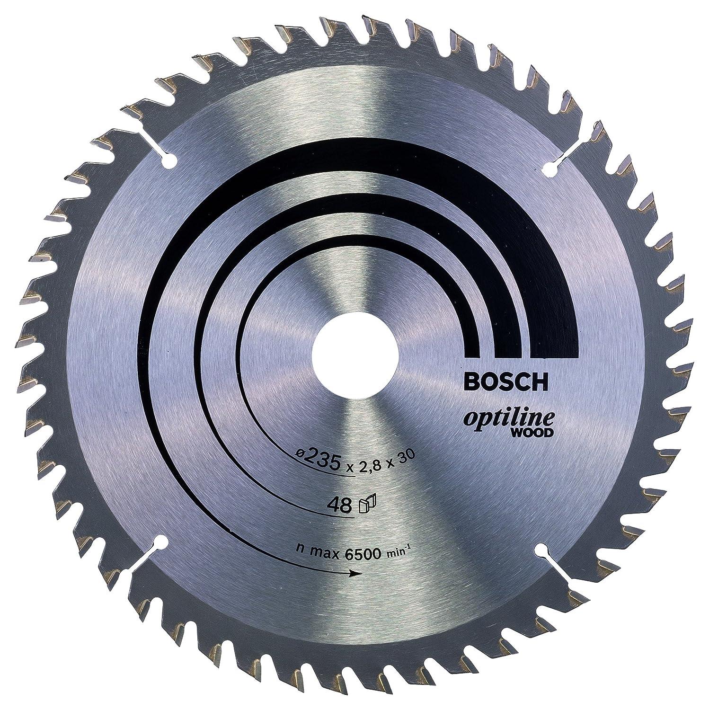 Hoja de sierra circular Optiline Wood 235 x 30//25 x 2,8 mm pack de 1 Bosch 2 608 640 727 48