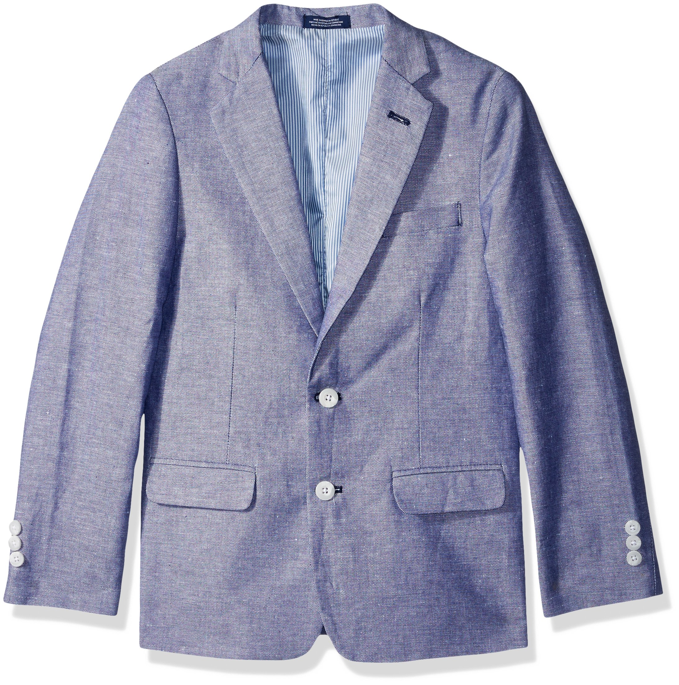 IZOD Big Boys' Blazer Suit Jacket, Dark Blue, 12