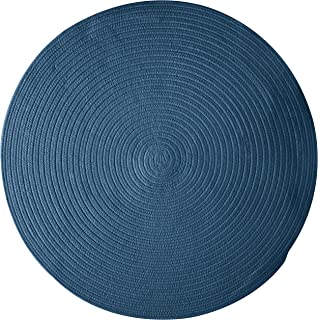 product image for Colonial Mills Bristol Polypropylene Braided Round Rug, 6-Feet, Federal Blue