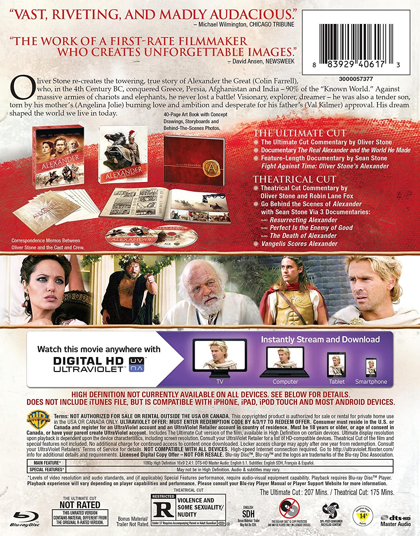 Alexander: The Ultimate Cut Edizione: Stati Uniti USA Blu-ray: Amazon.es: Colin Farrell, Anthony Hopkins, Rosario Dawson, Angelina Jolie, Val Kilmer, ...