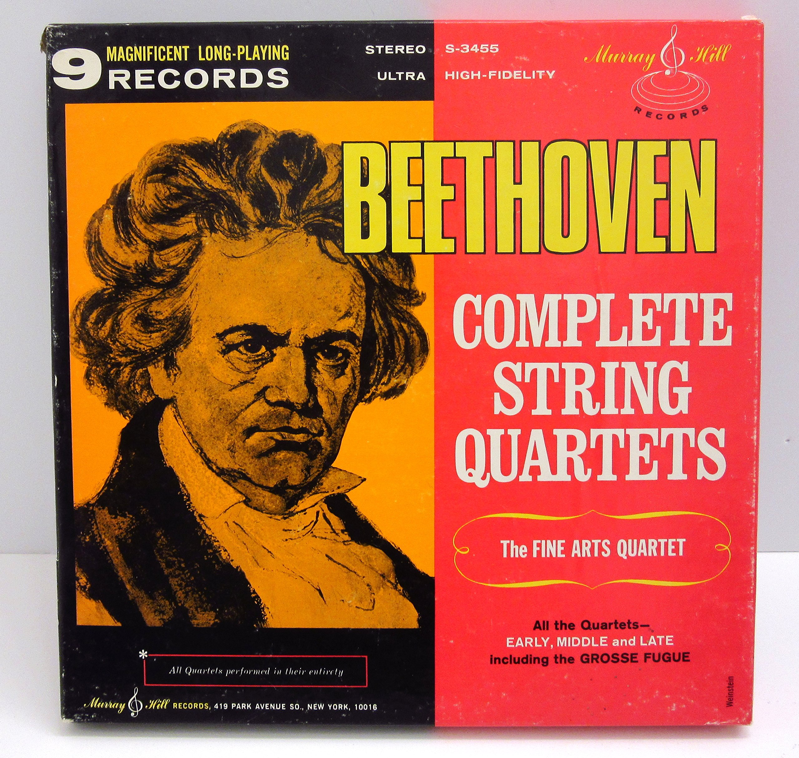 Beethoven: Complete String Quartets including The Grosse Fugue /The Fine Arts Quartet by Murray Hill Stereo S-3455
