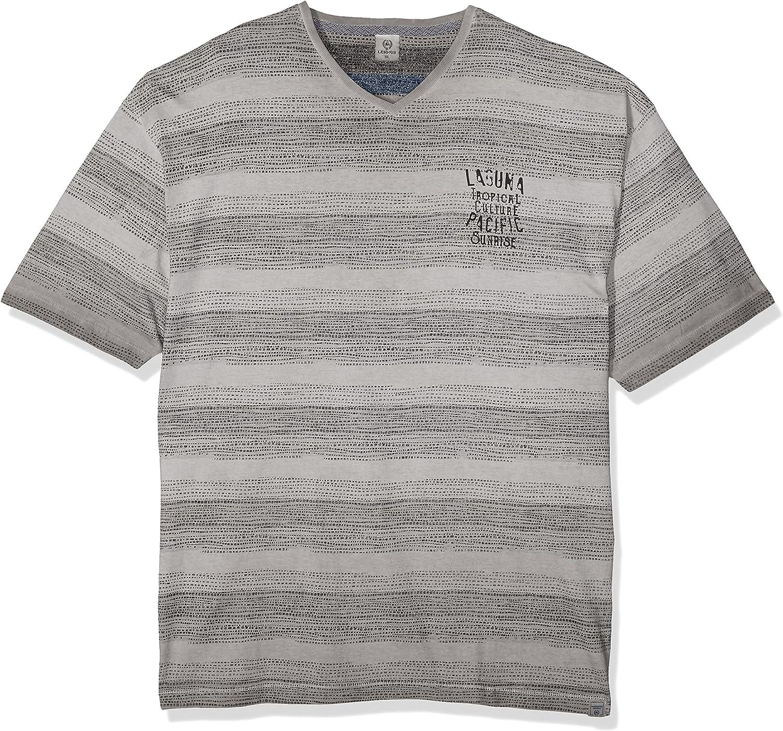LERROS Große Größen Herren T-Shirt Große Größen Camiseta, Gris (Pale Grey 223), XXXXX-Large para Hombre: Amazon.es: Ropa y accesorios
