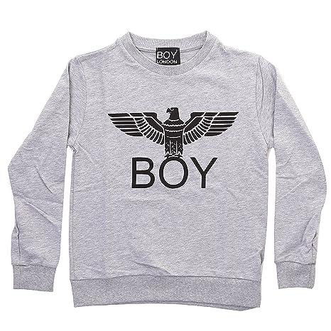 Felpa Amazon Girocollo London E it Sport Grigio Boy Xxl Melange S5q6Y
