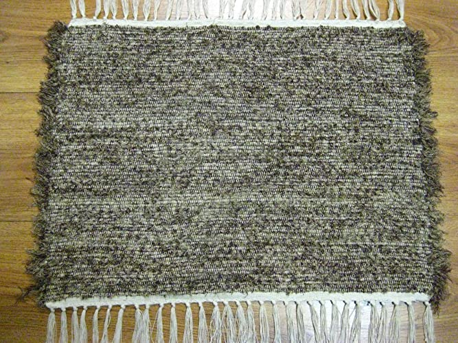 Amazon Com Badger Rag Rug Brown Short Pile Handmade